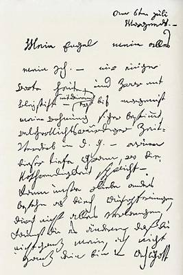 Letter From Ludwig Van Beethoven To The Poster by Vintage Design Pics