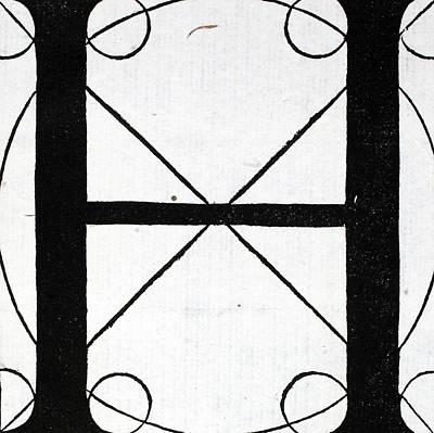Letter H Poster by Leonardo Da Vinci