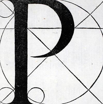 Letter P Poster by Leonardo Da Vinci