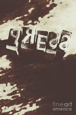 Letter Press Typeset  Poster