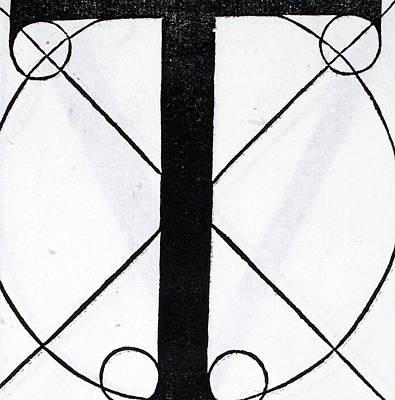 Letter T Poster by Leonardo Da Vinci