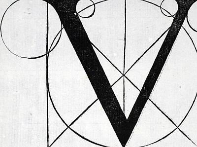 Letter V Poster by Leonardo Da Vinci