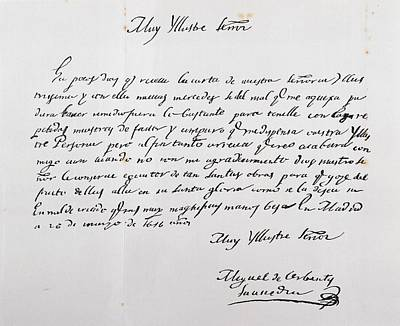 Letter Written To Archbishop Of Toledo Poster
