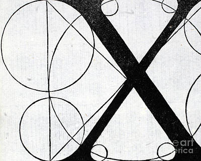 Letter X Poster by Leonardo Da Vinci