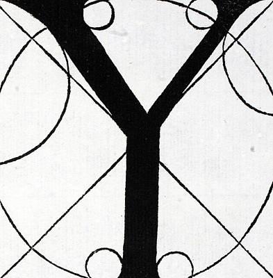 Letter Y Poster by Leonardo Da Vinci
