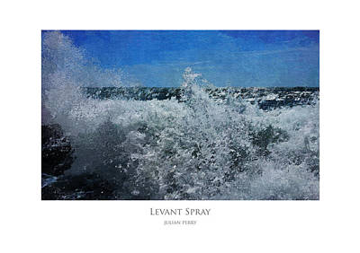 Poster featuring the digital art Levant Spray by Julian Perry