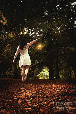 Levitation With Lamp Poster by Amanda Elwell