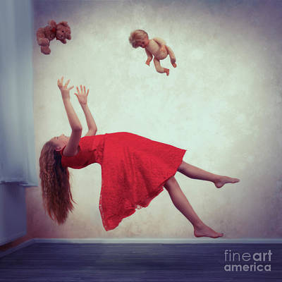 Levitation With Toys Poster by Amanda Elwell