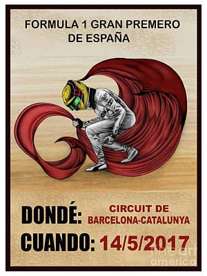 Lewis El Matador Poster by Adam Campbell