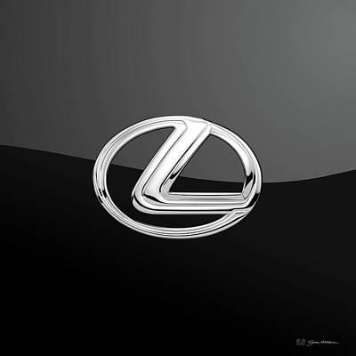 Lexus - 3d Badge On Black Poster by Serge Averbukh