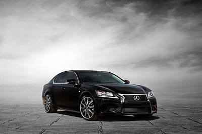 Poster featuring the digital art Lexus Gs350 F Sport by Peter Chilelli