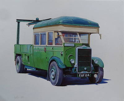 Leyland Southdown Wrecker. Poster by Mike Jeffries