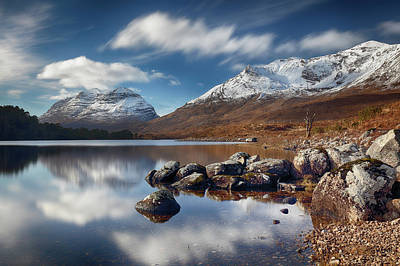 Poster featuring the photograph Liathach by Grant Glendinning