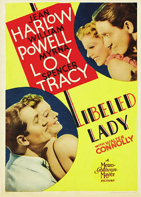 Libeled Lady 1936 Poster by M G M