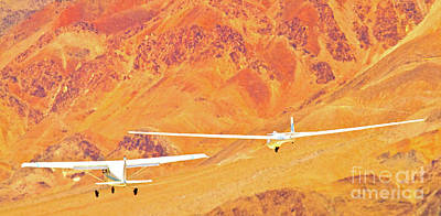 Libelle Sailplane On Tow Poster