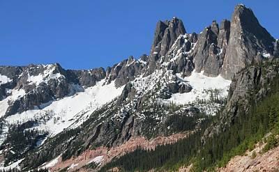 Liberty Bell Mountain Range Over Washington Pass Poster