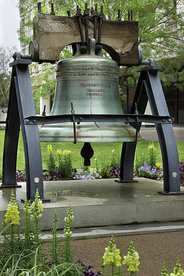 Poster featuring the photograph Liberty Bell Replica by Mike Eingle