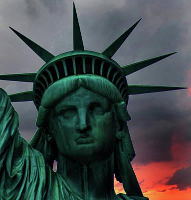 Liberty Sunset Poster by Martin Newman