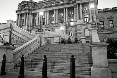 Library Of Congress In Black And White Poster by Greg Mimbs