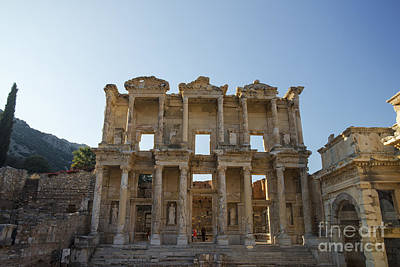 Library Of Ephesus Or Celsus Poster by Yuri Santin