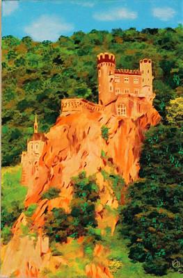Poster featuring the painting Lichtenstein Castle by Deborah Boyd