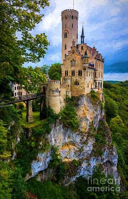 Lichtenstein Castle - Germany Poster by Gary Whitton
