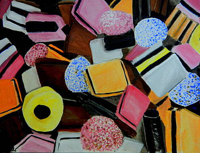 Licorice All Sorts Poster by Betty-Anne McDonald
