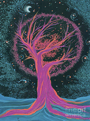 Life Blood Tree Pink By Jrr Poster by First Star Art