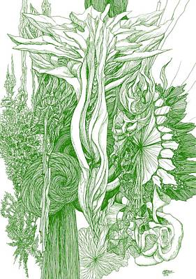 Life Force  - Green Poster by Charles Cater