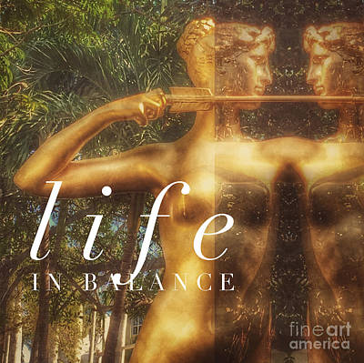 Life In Balance Poster by Lisa Renee Ludlum