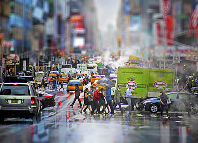 Life In New York City Poster by Mark Andrew Thomas