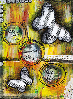 Poster featuring the mixed media Life Is A Musical Thing by Stanka Vukelic