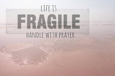 Life Is Fragile Poster by Bonnie Bruno