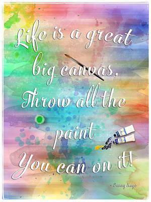 Life Is... - Watercolor Art Poster by Jordan Blackstone