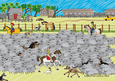 Life On A Sheep Station Poster by Diana-Lee Saville