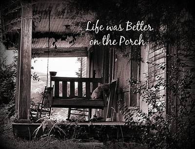 Life Was Better Poster by Julie Dant