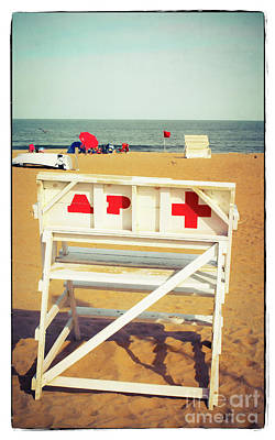 Poster featuring the photograph Lifeguard Chair - Asbury Park by Colleen Kammerer