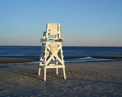 Poster featuring the photograph Lifeguard Chair  by Margie Avellino