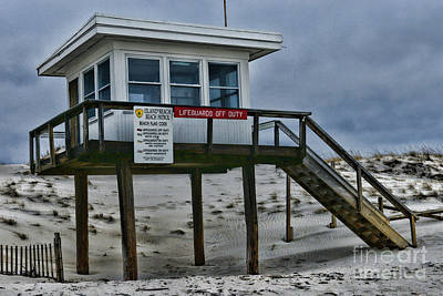 Poster featuring the photograph Lifeguard Station 1 by Paul Ward