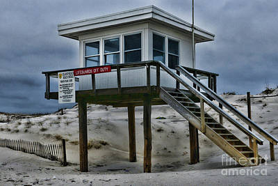 Poster featuring the photograph Lifeguard Station 2  by Paul Ward