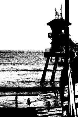 Lifeguard Station At Huntington Beach Poster by Gabe Aguilar