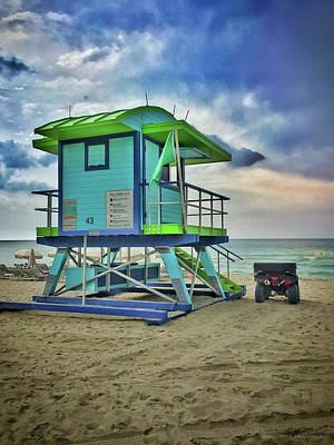 Lifeguard Station - Miami Beach Poster