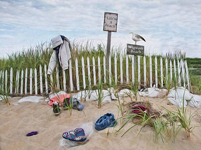 Poster featuring the photograph Life's A Beach by Robin-Lee Vieira