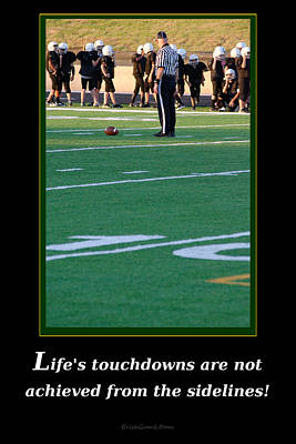 Life's Touchdowns Poster