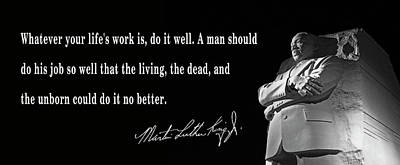 Life's Work - Martin Luther King Poster