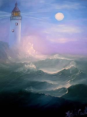 Light At Sea Poster