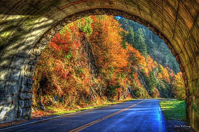 Light At The End Of The Tunnel Blue Ridge Parkway Art Poster