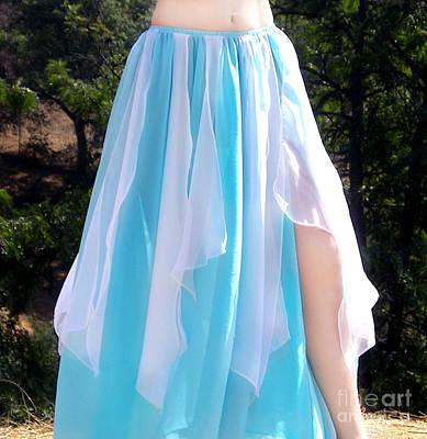 Light-blue White Skirt. Ameynra Dancewear Poster by Sofia Metal Queen