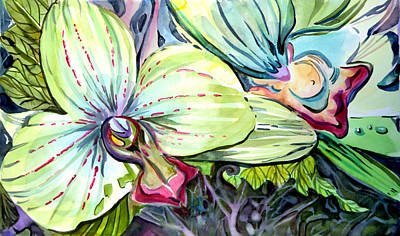 Light Of Orchids Poster by Mindy Newman