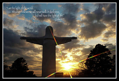 Light Of The World - Inspirational Scripture Message Poster by Gregory Ballos